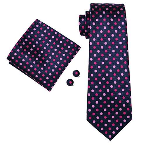 Necktie New Men's Fashion Pink Tie Polka Hi Dots Set Blue IwqSRTW1CE