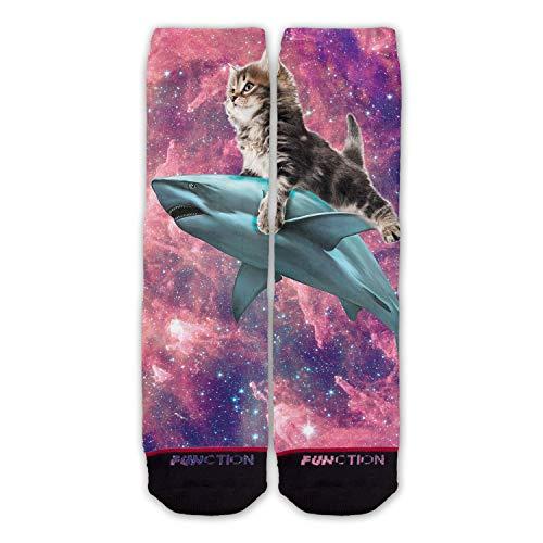 Function - Galaxy Cat Riding Shark Fashion