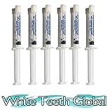 White Teeth GLobal Teeth Whitening Gel 44% Carbamide Peroxide, 6 Tooth Bleaching Gel Syringes