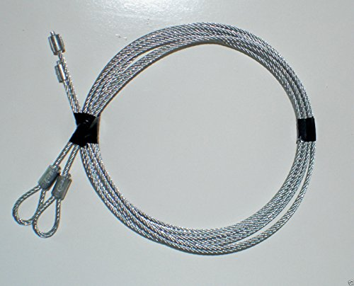 (GARRAG) Garage Door Cables for Torsion Spring Doors 7' Clopay Wayne Dalton CHI