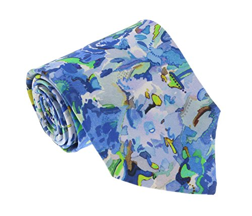 - Missoni U1977 Blue/Green Floral 100% Silk Tie for mens