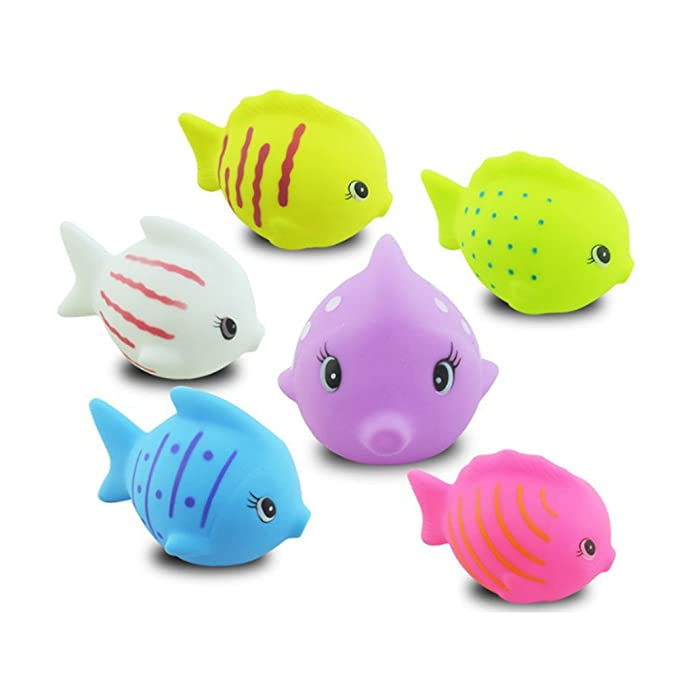 Amazon.com: TOYMYTOY Baby Bath Toys Fish Colorful Cute Toy Bathtime Fun Toys 6pcs: Toys & Games