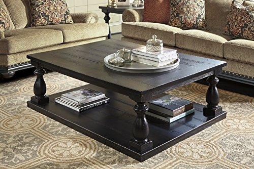 Ashley Furniture Signature Design - Mallacar Coffee Table - Cocktail Height - Rectangular - (Large Rectangular Coffee Table)