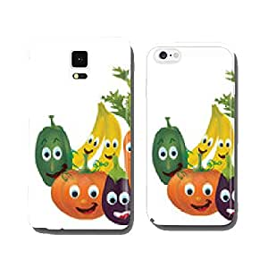 Illustration Collection of Animated Fruits and Vegetables cell phone cover case Samsung S5