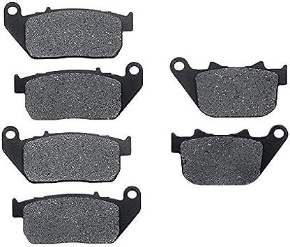 KMG Rear Brake Pads for 2007-2011 Harley XL 1200 L Sportster Low Non-Metallic Organic NAO Brake Pads Set