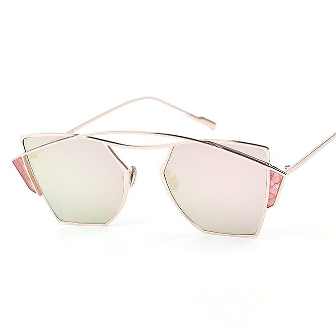 WKAIJC Mode Mode Persönlichkeit Retro Männer Und Frauen Kreativ Bequem Anspruchsvoll Sonnenbrille,B