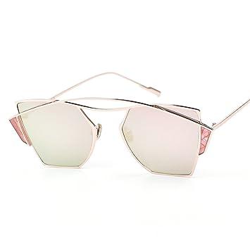 WKAIJC Mode Mode Persönlichkeit Kreativität Bequem Retro Männer Und Frauen Sonnenbrillen,D