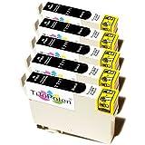 5x Epson Stylus SX 110 Premium XL Druckerpatronen in Schwarz. Sehr gute Laufleistung und Preiswert!MIT CHIP!!!
