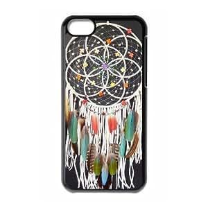 caja del teléfono celular del Funda iPhone 5c funda atrapasueños negro hermoso O0U3OV