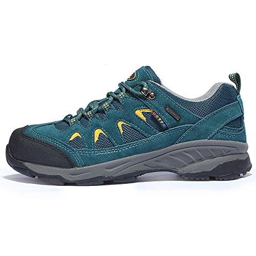 TFO Damen Mid Waterproof Trekkingschuhe & Wanderschuhe atmungsaktive Bergschuhe & Outdoor Schuhe mit Anti-Rutsch-Sohle