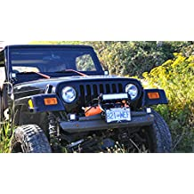 """Cascadia 4x4 Flipster """"Lite"""" - Winch License Plate Mounting System - With Integrated Off-Road Lighting Mounts - Hawse/Roller fairlead compatible - Made in USA and Canada"""