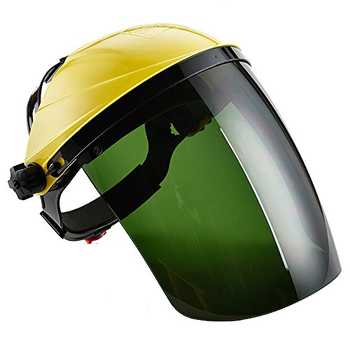 Tinted Wood Protector - Jia Hu Safety Adjustable FaceShield Visor Mask Anti-glare Infrared Scratch Splash Welding Helmet Eye Protector Yellow