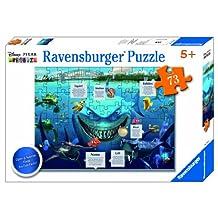 Ravensburger Disney Pixar: Shark Alarm (73-Piece) Flap Puzzle
