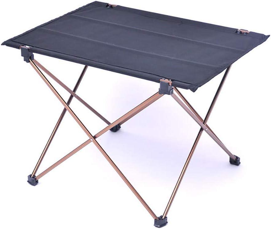 SJAPEX Campeggio Tavolo da Portatile con Borsa,Tavolino da Pieghevole Compatta Facile da Trasportare Alluminio Oxford Panno Ideale per Picnic Giardino Spiaggia
