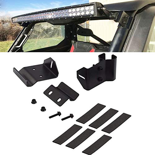 - No Need Drilling 50 inch Curved Straight LED Light Bar Upper Windshield Pro-fit Cage Mounting Brackets Fits Polaris Ranger 500 570 900 1000