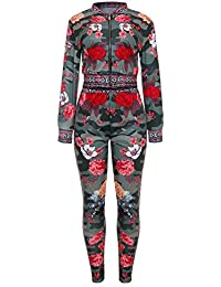 2 Piece Outfits For Women Long Sleeve Floral Blazer With Long Pants Dashiki Print
