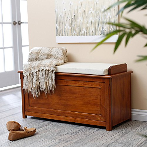 Belham Living Cedar Chest Mission Bench with Cushion - Oak