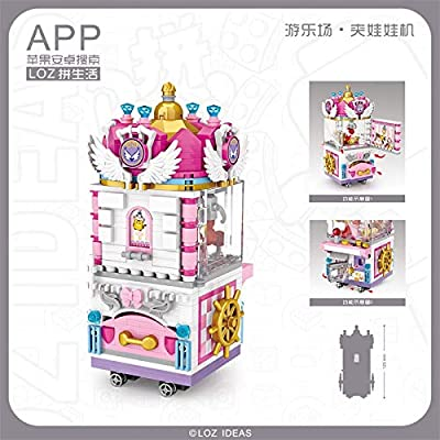 LOZ Prize Claw Doll Machine Play Ground Series NO.1721 Mini Building Micro Blocks Compatible Nano Brick Headz Chistmas/Bithday Gifts for Kids DIY Figures Assemble Educational Toys Model Kits: Toys & Games