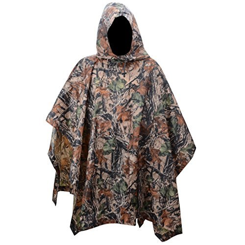 XTACER Multiuse Rain Poncho XL Raincoat Sheet Poncho Camo