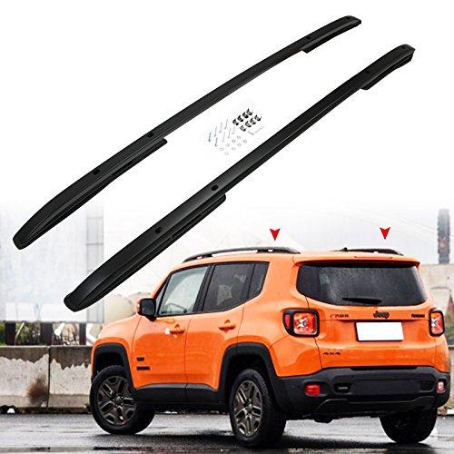 Roof Rack Rail fit for JEEP Renegade 2015-2017 Cross Bar Black -  tiewardsauto, JPZYXHSXLJ