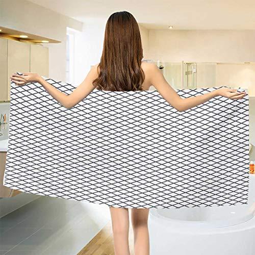 Chaneyhouse Modern,Baby Bath Towel,Geometrical Stripes Crossing Zig Zag Basket Braid Like Image,Print Wrap Towels,Charcoal Grey Black and White Size: W 10