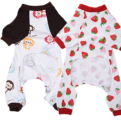 HongYH Dogs Cats Onesie Dog Pajamas Bodysuits for and