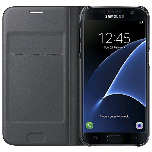 Samsung Original Flip Wallet Cover Hülle EF-WG930 für Galaxy S7 - Schwarz