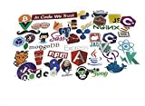 DEVELOPER STICKER PACK This pack includes 25 stickers of popular developer tools and libraries, and 50 other fashionable stickers to make your laptop look cool.  All stickers are made out of PVC with sun protection and waterproof. We offer100% MONE...
