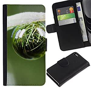 Ihec-Tech / Flip PU Cuero Cover Case para Apple Iphone 4 / 4S - Plant Nature Forrest Flower 46