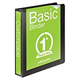 "Wholesale CASE of 25 - Acco/Wilson Jones Round Ring View Binders-Round Ring View Binder, 1"" Capacity, 11""x8-1/2"" Black"