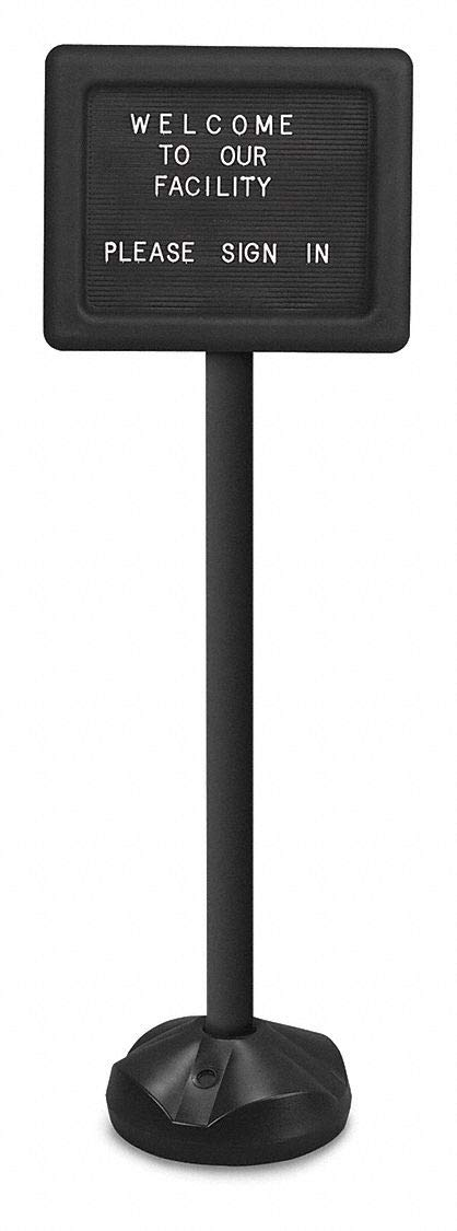 11' H x 14' W Black Plastic Cover for Pedestal Board, Letter Board Style