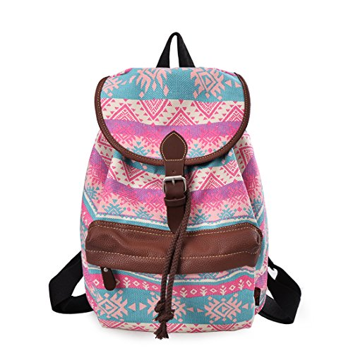Douguyan Lightweight Backpack for Teen Young Girls Cute Backpack Print Rucksack 164 Green Magic
