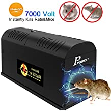 Electronic Rat Traps, Mouse Rodent Traps Electronic,High Voltage Emitting,Effective and Powerful killer for rat,squirrels Mice and similar rodents【2018 upgraded】Clean and Humane Extermination of Mice