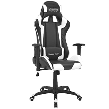 Tuduo Silla de Escritorio reclinable Racing Cuero Artificial ...