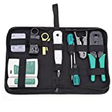 Ridgayard 10 in 1 Professional Network Computer Maintenance Repair Tools Rj45 Cat5 LAN Network Tool Kit