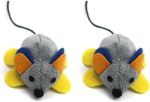 DAYOLY 2 Juguetes para Gatos, Ratones de Felpa, Juguete Interactivo con Sonidos realistas, ratón de Peluche para Gato, Perro, Mascota, Regalo Divertido: Amazon.es: Productos para mascotas