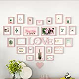 ZGP Home@Wall photo frame Living Room Heart Photo Wall Wall-mounted Frame Wall-mounted Assembly European Decoration Creative Love Bedroom Photo Frame (Color : I)