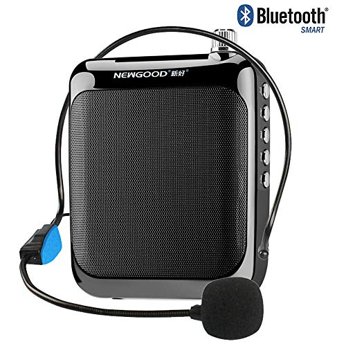NEWGOOD Portable Rechargeable Mini Voice Amplifier- Ultralight Portable PA System with Wired Microphone Headset and Waistband