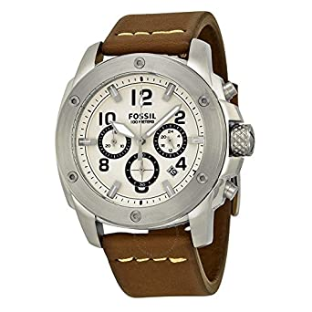 5852ea334 Fossil Men's FS4929 Modern Machine Stainless Steel Watch with Brown Leather  Band