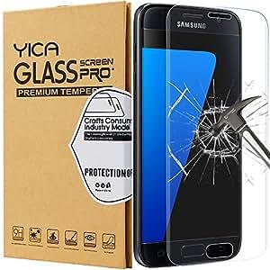 Galaxy S7 Protector de Pantalla, Yica Protector de Pantalla para Galaxy S7 HD Vidrio Templado Protector de Pantalla de Cristal Templado de Película Protectora para el Samsung Galaxy S7 Anti-rasguños