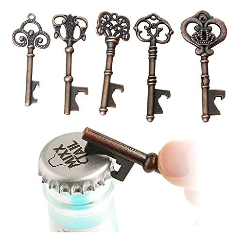 Yansanido Pack of 100 Skeleton Key Bottle Opener with Escort Tag Card and Twine for Wedding Favors for Guests Party Favors (100pcs mixed 5 styles) by Yansanido (Image #1)