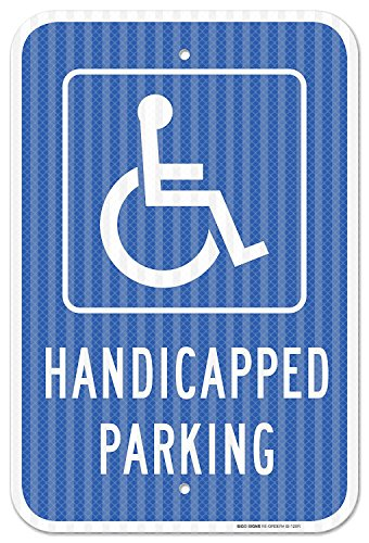 (Handicap Parking Sign - Federal Size 12