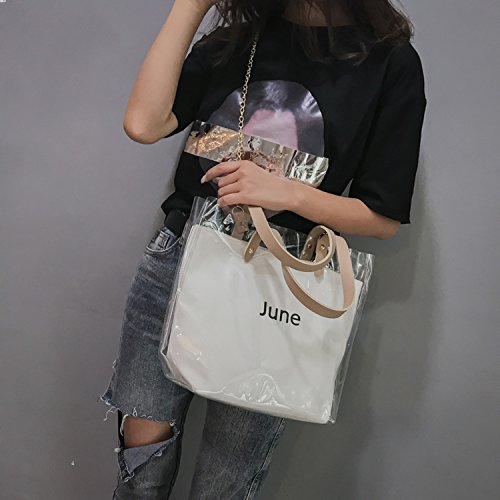 Summer shoulder bag Pink transparent 2018 fashion women's handbags fqPPa
