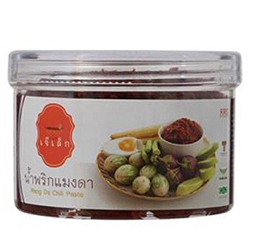 Chili Paste Net - Chili Paste Mang-Da chili (Nam Prik Mang-Da) Thai Original Spicy Herbal Food Net Wt 90 G (3.17 Oz) J Lek