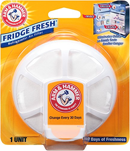 - Arm & Hammer 33200-01710 Baking Soda Fridge Fresh Air Filter, 0.28 oz (Pack of 8)