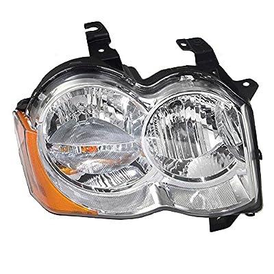 Passengers Halogen Headlight Headlamp Replacement for Jeep SUV 55157482AC