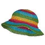 Jeanne Simmons Girl's Rainbow Striped Bucket Hat - Multi OSFM