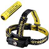 Combo: Nitecore HC90 Rechargeable XM-L2 LED Headlamp - 900 Lumens w/NL189 Rechargeable 18650 Battery