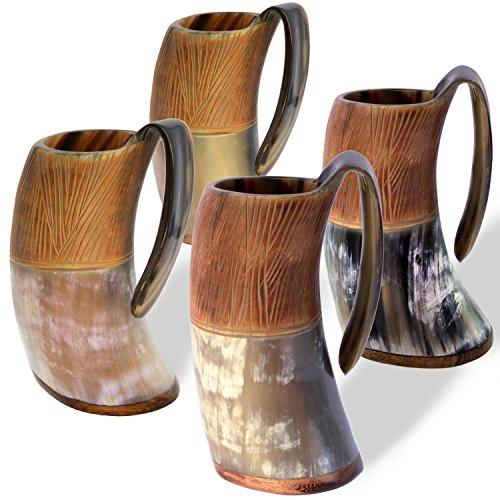 Norse Tradesman Genuine Viking Drinking Horn Tankard (4, The Jarl) by Norse Tradesman
