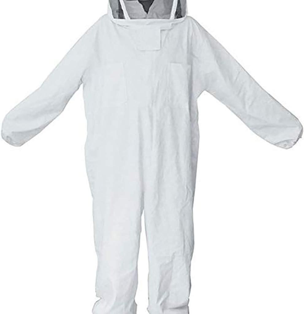 XL Professional Cotton Full Body Beekeeping Bee Keeping Suit+Veil Hood New HOt